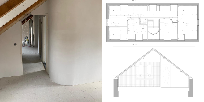 architectuur verbouw modern ronde wanden